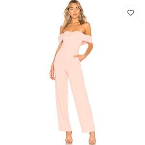 NWT Lovers + Friends DANICA JUMPSUIT IN LIGHT PINK